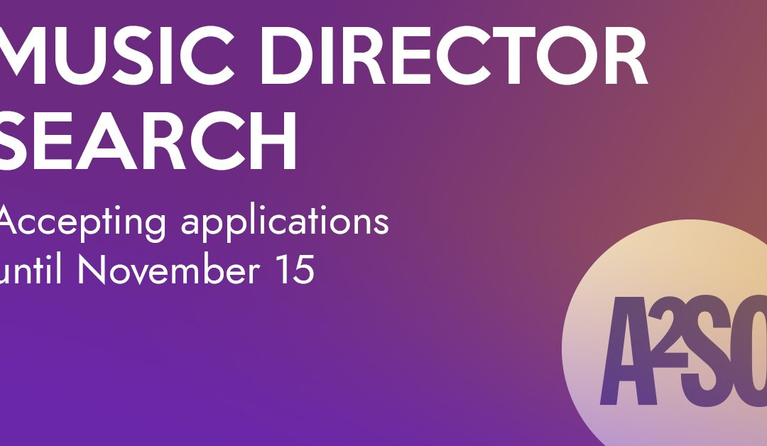 CONDUCTOR SEARCH ANNOUNCED