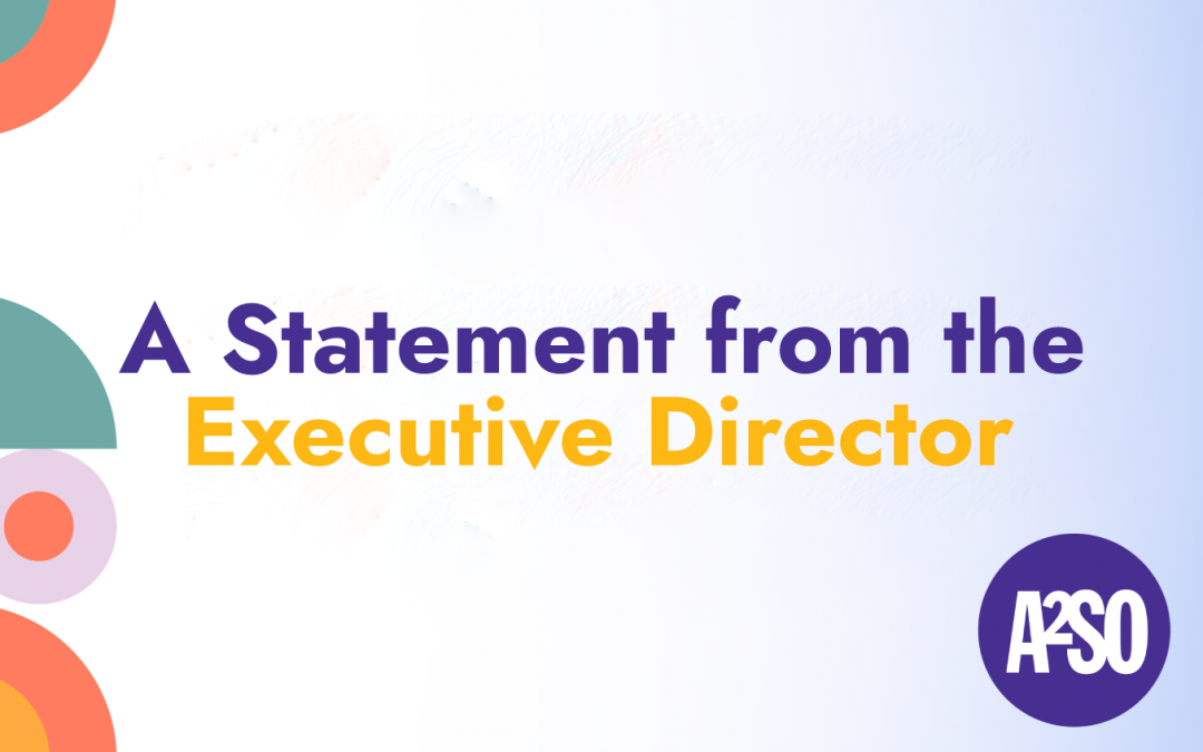 A STATEMENT FROM EXECUTIVE DIRECTOR TYLER RAND